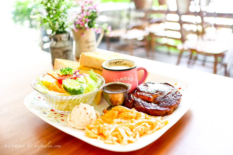 【宜蘭】美好時光|牛排義大利麵早午餐文化中心旁綠蔭親子餐廳