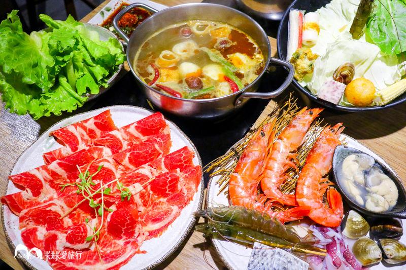【基隆仁愛】鍋太郎極海鮮|廟口旁的活蝦本港活海鮮麻辣鍋小火鍋涮涮鍋