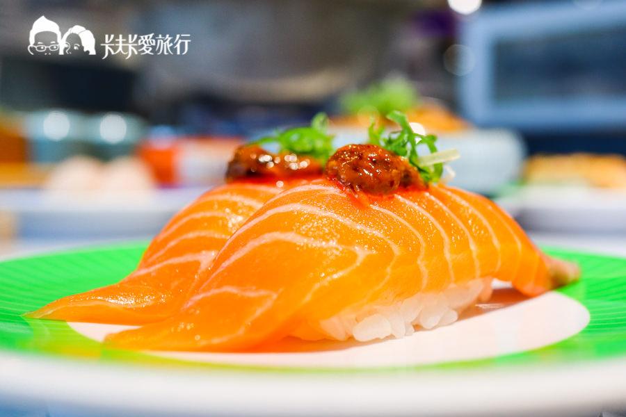 【台北信義】海壽司迴轉壽司微風松高店|日本空運海鮮直送挪威鮭魚握壽司軍艦壽司