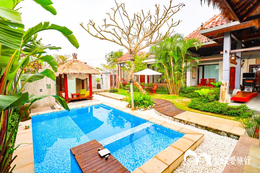 【宜蘭羅東民宿】43會館Villa|不用出國!一秒就到峇里島度假頂級親子包棟民宿