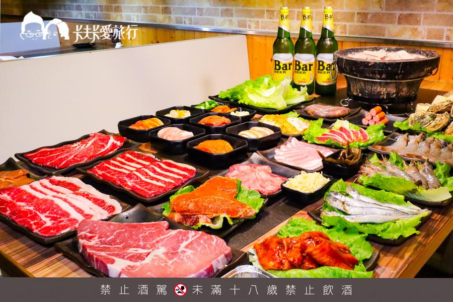 【宜蘭燒烤吃到飽】愛烤愛對囉|安格斯和牛燒肉韓式烤肉海鮮牡蠣生蠔吃到飽
