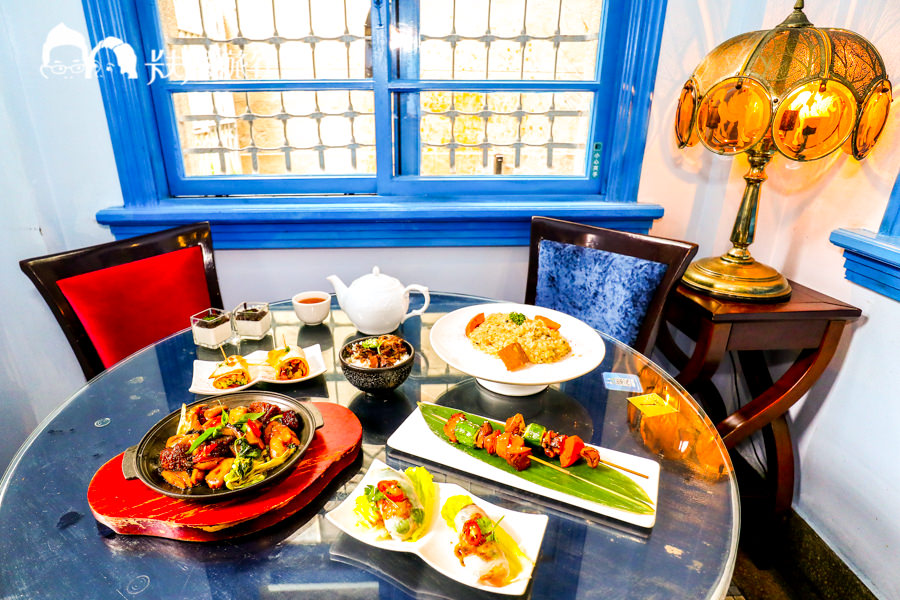 【台南蔬食】赤崁璽樓|和洋式老建築品嚐美味創意料理!無菜單料理台南素食