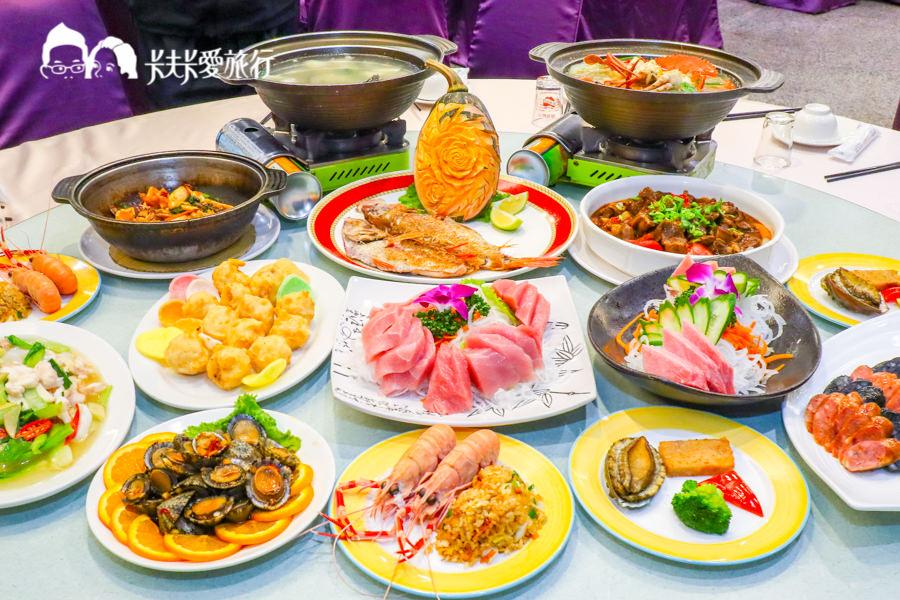 【蘇澳海鮮】永豐活海鮮餐廳|頂級黑鮪魚生魚片沙公米粉鮑魚現流海產合菜快炒