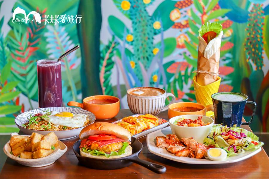 【宜蘭早午餐】铁支路早午餐|美麗冬山車站前風格早餐!鴨賞捲餅牛肉堡炒泡麵
