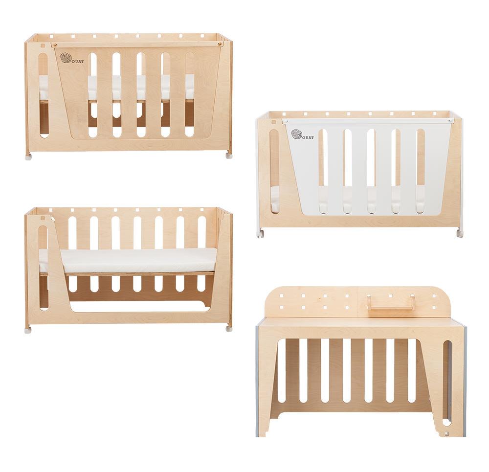 嬰兒床變成書桌評價超方便.jpg