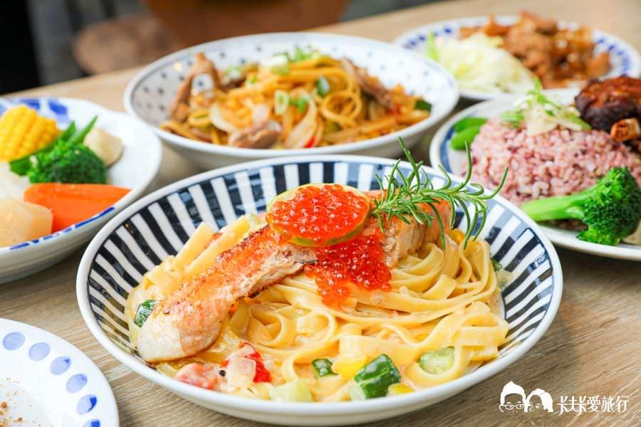 宜蘭簡餐|蘭波LanPO|爆漿鮭魚卵義大利麵肋排咖哩飯!親子餐廳及寵物友善