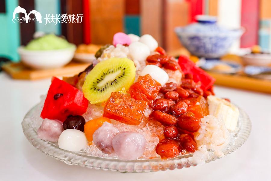 【台中甜點】幸發亭蜜豆冰本舖|懷舊古早味冰店嚐蜜豆冰!暖心燒麻糬綿密紅豆