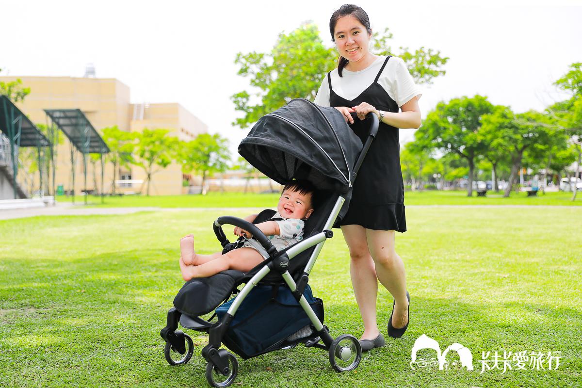 嬰兒推車開箱|Chicco Goody魔術瞬收手推車|評價使用心得優缺點新生兒能坐