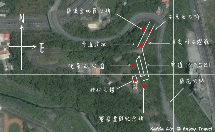 金比羅神社相對位置圖