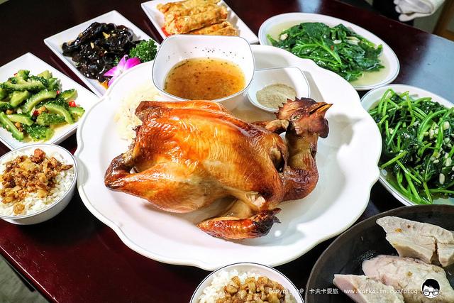 【宜蘭壯圍】大嵌城罋缸雞|快炒養生時蔬合菜聚餐甕窯雞手扒雞